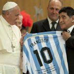Pope Francis meets Maradona